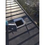 屋根上の開口画像です。